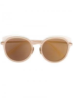 Солнцезащитные очки в оправе кошачий глаз Maska. Цвет: коричневый
