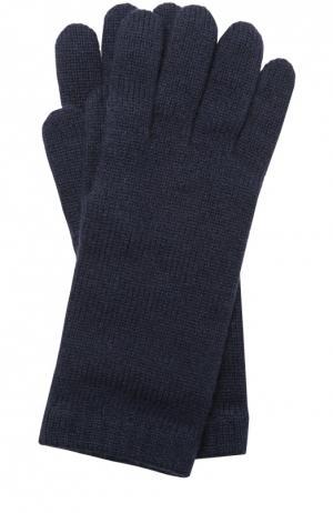 Вязаные перчатки из кашемира Johnstons Of Elgin. Цвет: темно-синий