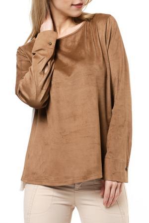 Блузка Jones. Цвет: коричневый