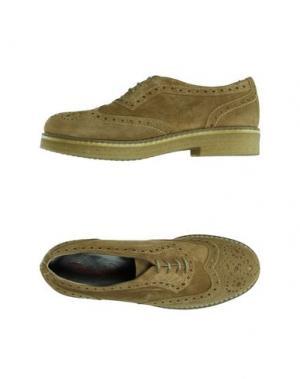 Обувь на шнурках EMANUELA PASSERI. Цвет: верблюжий