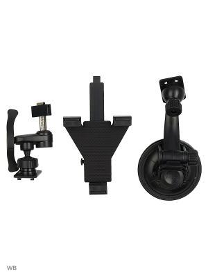 Держатель для планшета/iPad на стекло и решетку вентиляции KDS-1TV WIIIX. Цвет: черный