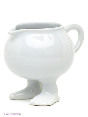 Молочник Efeet Collection. Цвет: белый