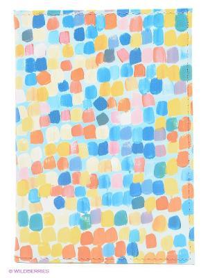 Обложка для автодокументов Палитра Mitya Veselkov. Цвет: желтый, синий, оранжевый