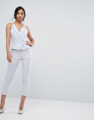 Lavish Alice Комбинезон с укороченными штанинами. Цвет: серый