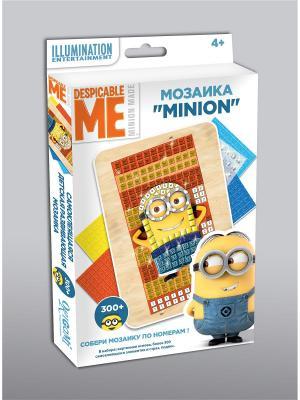 Minions. Мозаика  -сингл Minion на пляже Minions. Цвет: синий,голубой,коралловый