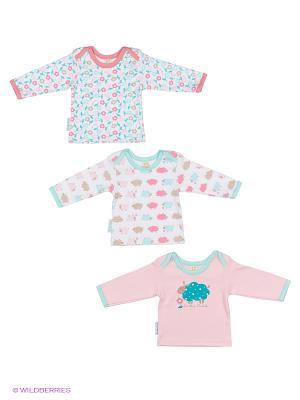 Комплект детский: кофточка 3 шт. Lucky Child. Цвет: розовый, зеленый