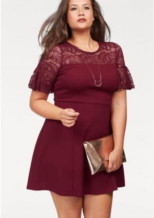 Платье MELROSE. Цвет: черный, ягодный