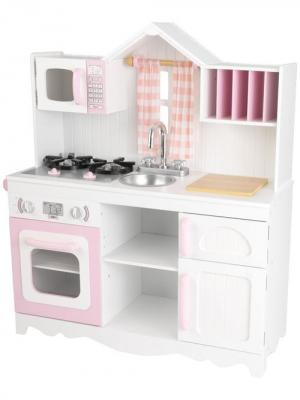 Игровая кухня для девочки из дерева Модерн (Modern Country Kitchen) KidKraft. Цвет: розовый, белый