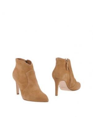 Полусапоги и высокие ботинки JULIE DEE. Цвет: желто-коричневый