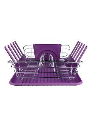 Посудосушка Ecowoo. Цвет: фиолетовый