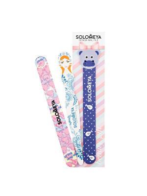 Набор пилок с дизайном  Восхищение 180/220*3 пилки /Nail File Set Аdmiration SOLOMEYA. Цвет: фиолетовый, голубой, розовый