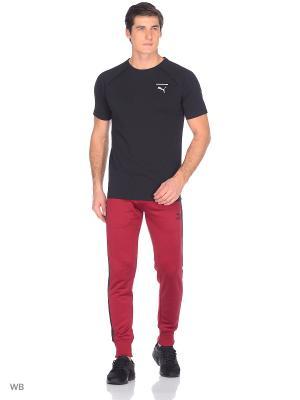 Брюки Archive T7 Track Pants PUMA. Цвет: бордовый, черный