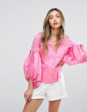 Pearl Рубашка с пышными рукавами. Цвет: мульти