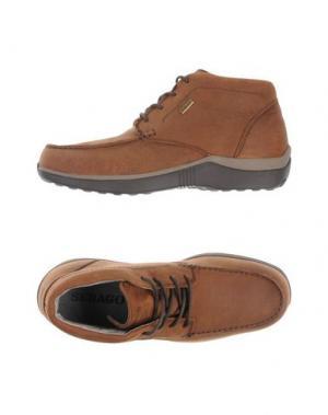 Высокие кеды и кроссовки SEBAGO. Цвет: коричневый