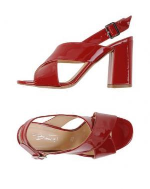 Сандалии BIANCA DI. Цвет: кирпично-красный