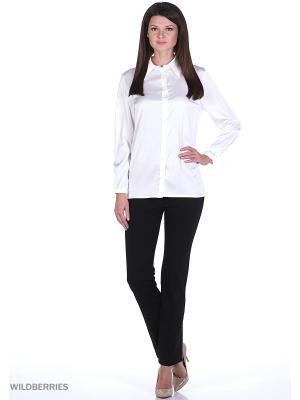 Блузка ELENA FEDEL. Цвет: белый