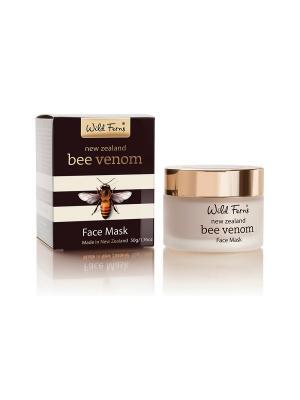Антивозрастная маска для лица New Zealand Bee Venom Face Mask  с пчелиным ядом, 50 г WildFerns. Цвет: белый