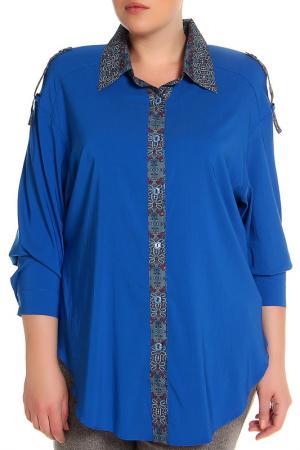 Блуза EVA Collection. Цвет: синий