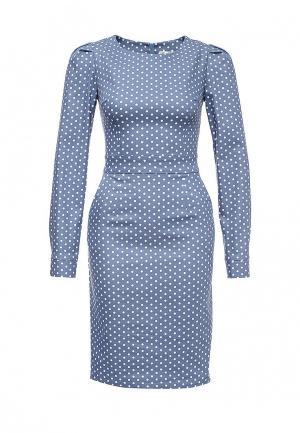 Платье джинсовое Olga Grinyuk. Цвет: голубой