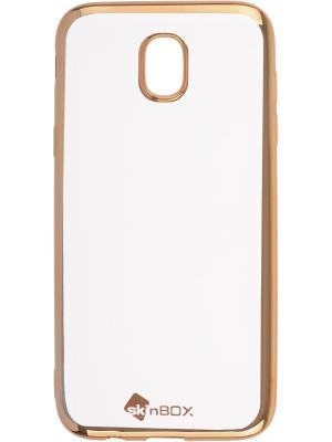 Накладка  skinBOX silicone chrome border 4People для Samsung Galaxy J5 (2017). Цвет: золотистый