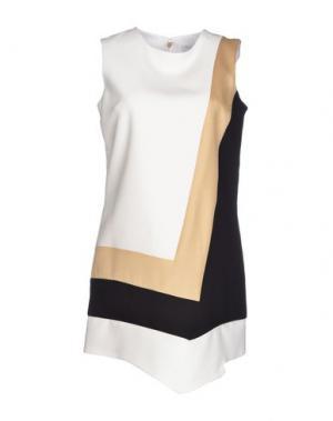 Короткое платье VIOLANTE NESSI. Цвет: белый