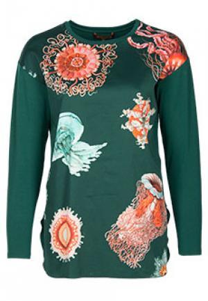 Блуза VIA TORRIANI 88. Цвет: зеленый