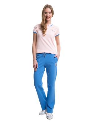 Спортивные брюки U.S. Polo Assn.. Цвет: голубой