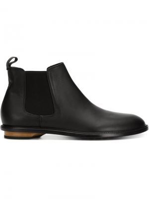 Ботинки по щиколотку на деревянном каблуке Valas. Цвет: чёрный