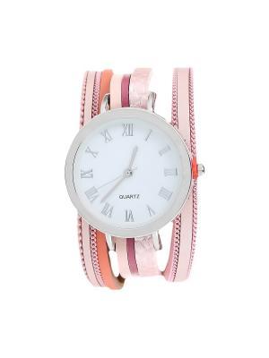 Браслет-часы Olere. Цвет: серебристый, коралловый, розовый