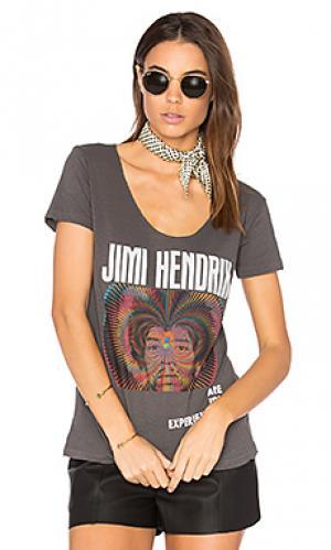 Футболка jimi hendrix experience Junk Food. Цвет: черный