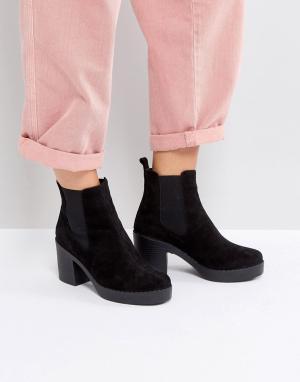 Office Ботинки на каблуке Alesha. Цвет: черный
