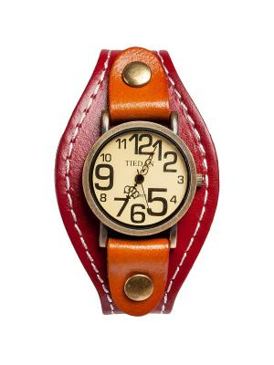 Браслет-часы Классика красн/коричн Art East. Цвет: красный, коричневый