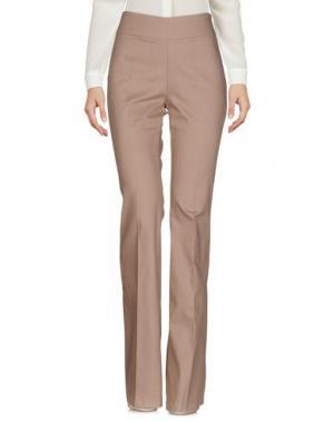 Повседневные брюки ODIEUSES. Цвет: голубиный серый