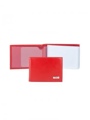 Футляр для кредитных карт Tirelli. Цвет: красный