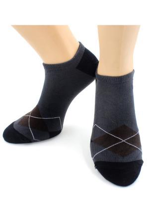 Носки HOBBY LINE. Цвет: антрацитовый, коричневый, черный