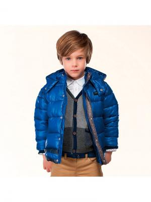 Куртка Mayoral. Цвет: темно-синий, синий, лазурный