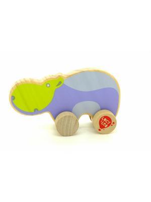 Каталка Бегемот LUCY&LEO. Цвет: фиолетовый