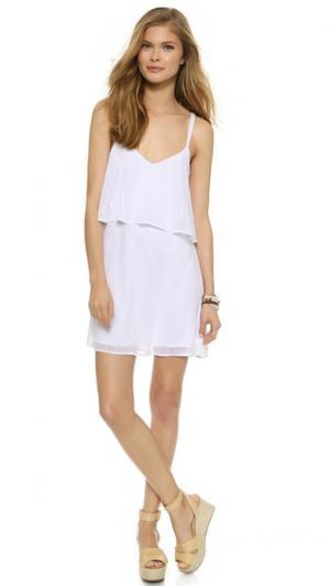 Мини-платье из кружевного шитья Love Sadie. Цвет: белый