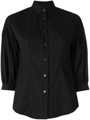 Рубашка с укороченными рукавами Xacus. Цвет: чёрный