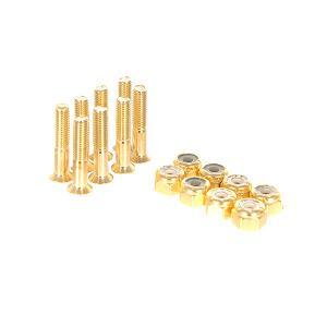 Винты для скейтборда  Bolts 1 Gold Phillips (8 x Pack) Bro Style. Цвет: желтый