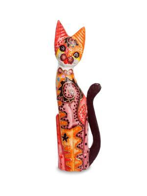 Статуэтка Кошка 50см (албезия, о.Бали) Decor & gift. Цвет: оранжевый