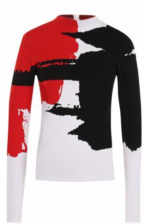 Пуловер прямого кроя с принтом Oscar de la Renta. Цвет: разноцветный