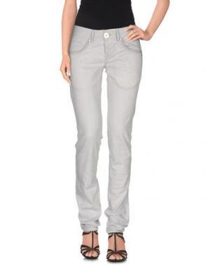 Джинсовые брюки HIGH. Цвет: серый