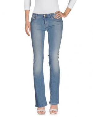 Джинсовые брюки NO LAB. Цвет: синий