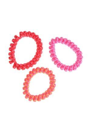Резинка для волос (3 шт.) Happy Charms Family. Цвет: красный, розовый, оранжевый