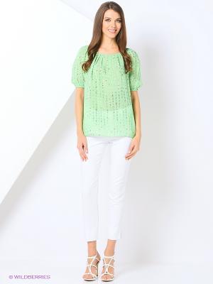 Блуза IMAGO. Цвет: светло-зеленый
