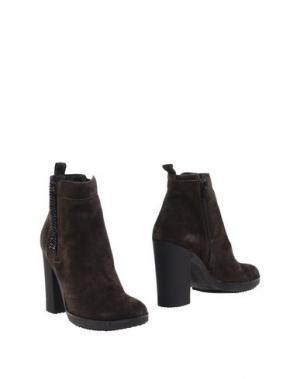 Полусапоги и высокие ботинки CARMENS. Цвет: темно-коричневый