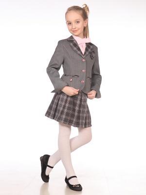 Пиджак UniStyle. Цвет: серый, розовый