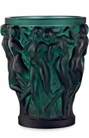 Ваза Bacchantes small Lalique. Цвет: темно-зеленый