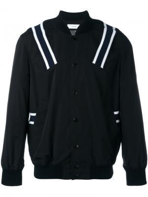 Куртка бомбер с полосами Facetasm. Цвет: чёрный